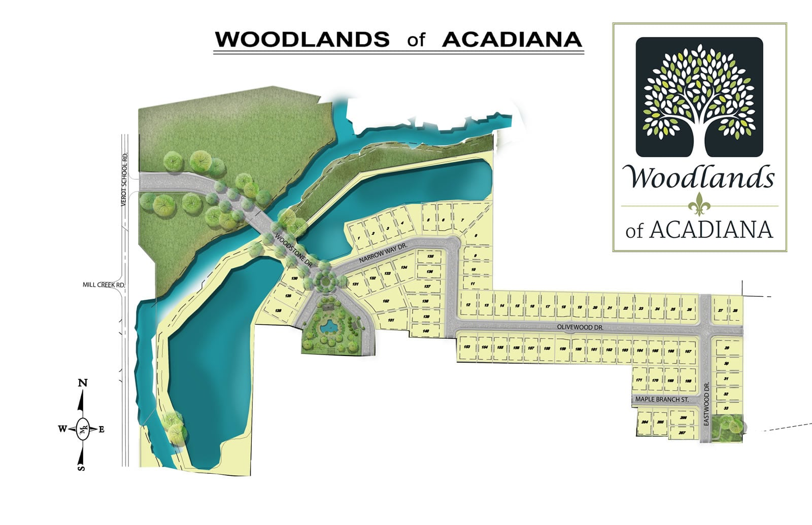 Woodlands of Acadia new street names