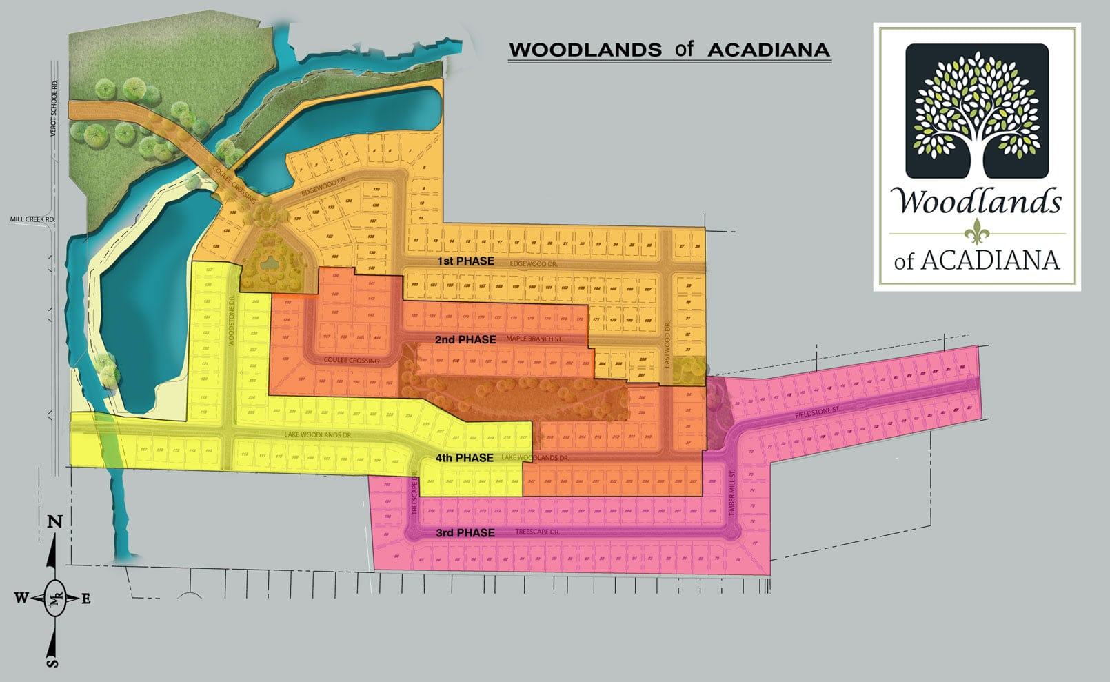 Woodlands of Acadia Lot Selection