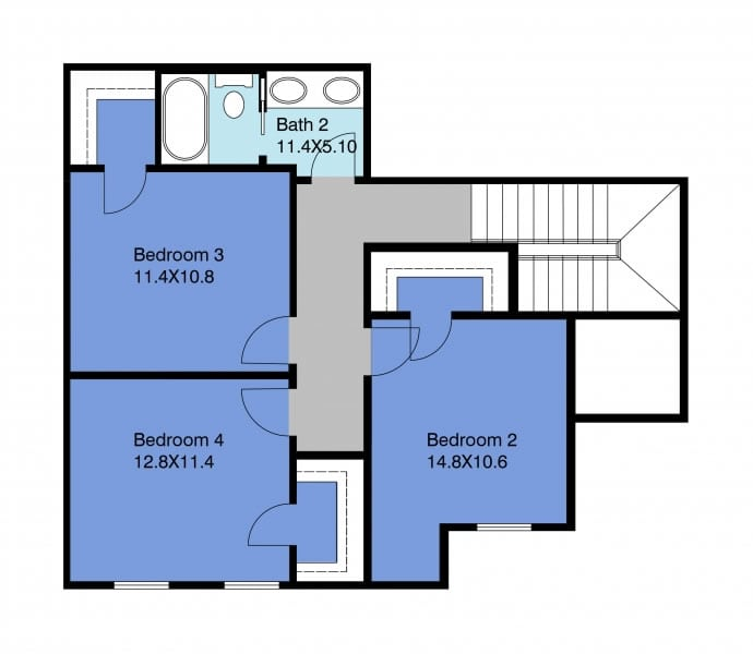 Birch Floor Plan 2nd Floor