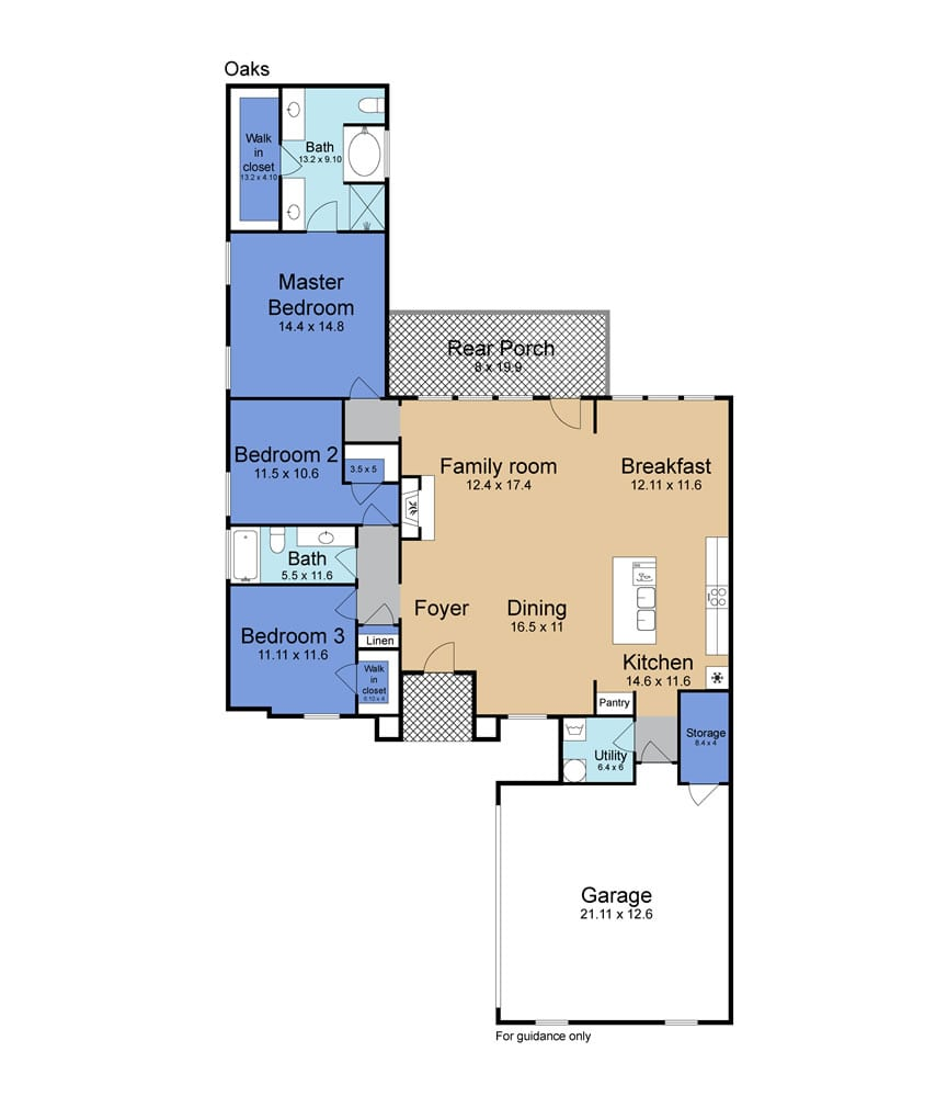 Oak Floor Plan